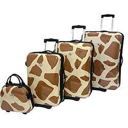 International Traveller 4 piece Giraffe Luggage Set