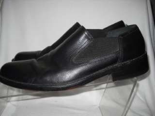 COLE HAAN BLACK LEATHER CASUAL LOAFER SLIP ON SHOES 10.5M