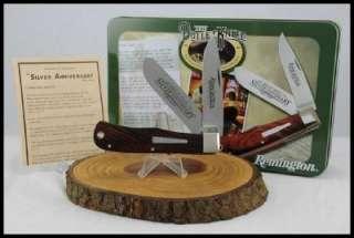 KNIVES 2007 REMINGTON 25TH ANNIVERSARY BULLET KNIFE JUMBO TRAPPER NIB
