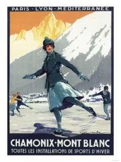 Chamonix Mont Blanc, France   Ice Skating Prints at AllPosters