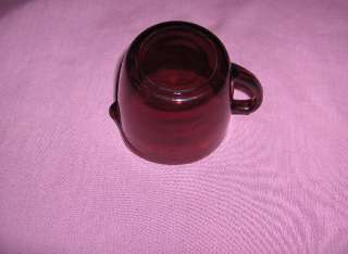 pc lot depression ruby red crystal glass creamer sugar jelly