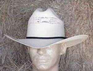 NEW VENTED BANGORA STRAW COWBOY WESTERN HAT