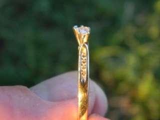 Beautiful 14k yellow gold heart shaped diamond ring  Must see 3