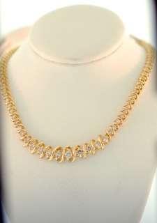Ladies Yellow Gold Diamond Tennis Necklance 3.00CT