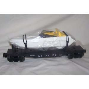 flat car w/ Motorized BOAT runs n water battery operated Toys & Games