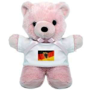 Teddy Bear Pink German Flag Waving