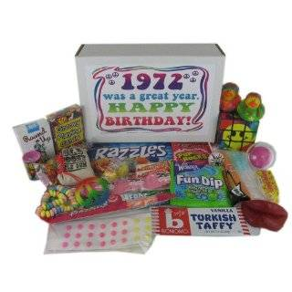 40th Birthday Gift Basket Box of Retro Candy  Grocery