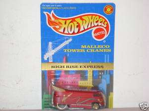 HOT WHEEL *VW DRAG BUS* MALLECO TOWER CRANES PROMO MOC