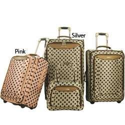 Olympia Spearmint 4 piece Polka Dot Luggage Set