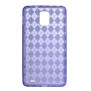 PURPLE TPU Gel Soft Argyle Design Skin Cover Case for Samsung Infuse