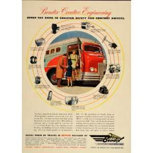 1946 Ad Bendix Aviation Corp. Engineering Products Bus