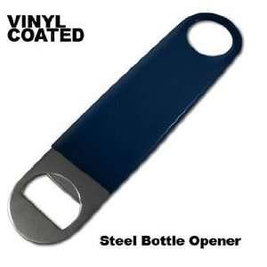 Vinyl Coated Stainless Steel Bottle Opener Blue