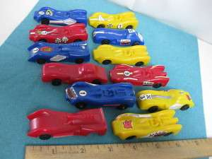 SET OF 12 VINTAGE, CEREAL PREMIUM TOY RACE CARS