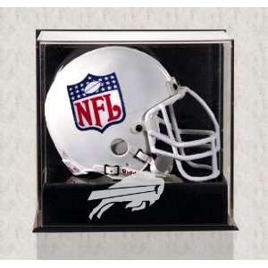 Wall Mounted Bills Logo Mini Helmet Display Case Sports
