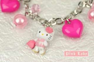 KJ26 Cute Hello Kitty Charm Pendant Bracelet