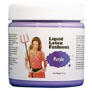 Ammonia Free Liquid Latex Body Paint   4oz Purple Beauty
