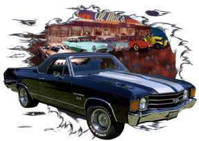You are bidding on 1 1972 Black Chevy El Camino SS Custom Hot Rod