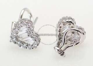 Gregg Ruth 18K White Gold & Diamond Heart Earrings