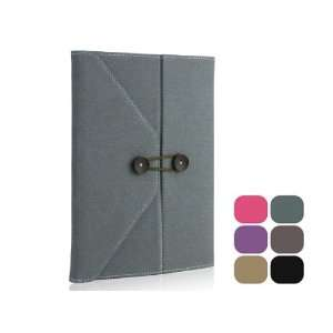 Envelope Button Clip PU leather case pouch for ipad 2 Army