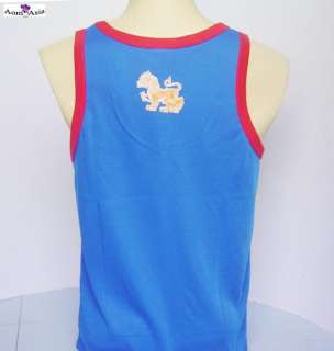 Singha Beer Women Mens T Shirt Tank Top Singlet Blue M