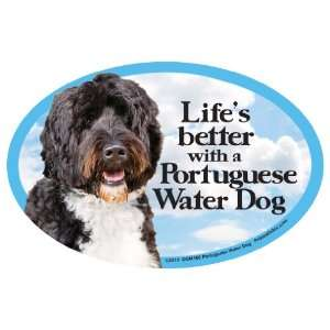 Portuguese Water Dog Oval Dog Magnet for Cars: Pet
