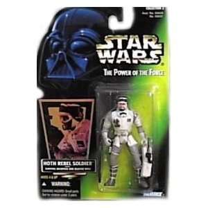 of the Force Green Card Hoth Rebel Soldier Action Figure Toys & Games