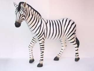 LIFE SIZE Statue Wild Zebra Zoo Animal Safari Jungle