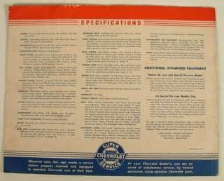 1940 CHEVROLET ADVERTISING SALES COLOR BROCHURE BOOKLET
