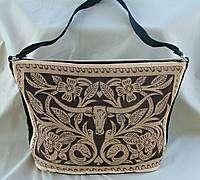 Purse, Texas Longhorn Design Leather Look Shoulder Bag