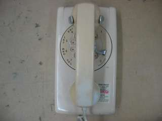 Bell Systems White Rotary Dial Wall Mount Telephone