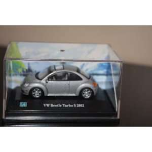 Silver VW Volkswagen Beetle Bug Turbo S 2002 toy car