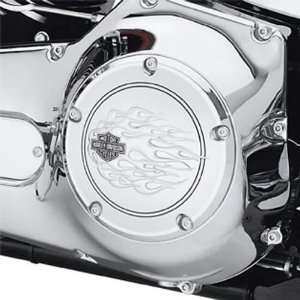 Harley Davidson Chrome Flames Derby Cover 25336 06