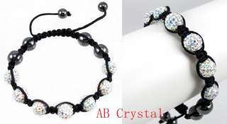 10mm Crystal Pave Disco Ball Valentine Bracelet + Gift Box (16
