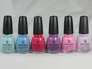 China Glaze Nail Polish ELECTROPOP LIGHTS Collection 6 Pc (1030 1031