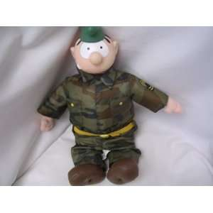 Beetle Bailey Soldier Military Doll Toy 16 Collectible
