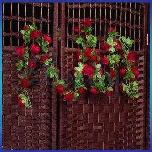 Garland Silk Flower Vine Ivy Home Wedding Garden Decoration