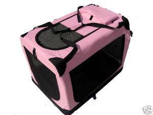 36 Portable Pink Pet Dog House Soft Crate Carrier (814836012508