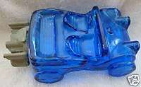 AVON DUNE BUGGY BLUE GLASS COLLECTIBLE COLOGNE BOTTLE