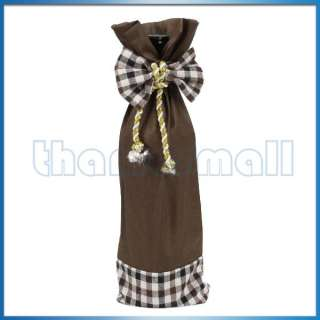 Wine Bottle Wrap Cover Gift Pouch Bag w/ Chinese Dress/Princess Dress