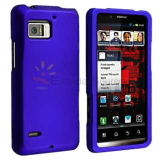 Clear+Black+Blue+Red Case+Privacy Protector For Motorola Droid Bionic