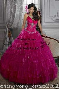 Formal beaded Quinceanera Dresses Bride Wedding Gown Evening Prom