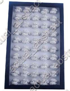wholesale 10pcs crystal rhinestone huge ring free