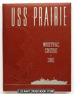 USS PRAIRIE AD 15 WESTPAC CRUISE BOOK 1961