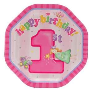 1st Birthday Shaped Dessert Plates (8) Party Supplies Toys & Games