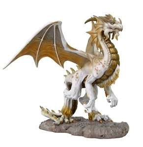 WHITE DRAGON ANCIENT ALPINE MOUNTAIN STATUE TOM WOOD