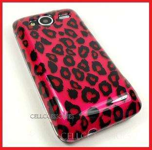 HTC EVO SHIFT 4G SPRINT PINK LEOPARD HARD COVER CASE