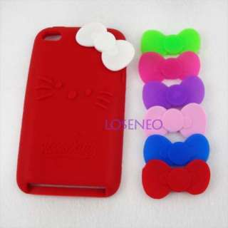 Hello Kitty Silicone Case Cover iPod Touch 4 4G Red