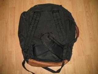 VINTAGE JANSPORT CANVAS & LEATHER TRAVEL BACKPACK DUFFLE BAG PACK