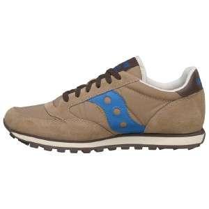 Originals Mens Jazz Low Pro Retro Running Shoes/Sneakers Tan/Blue