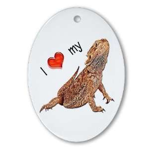 I luv my Bearded Dragon Pets Oval Ornament by CafePress